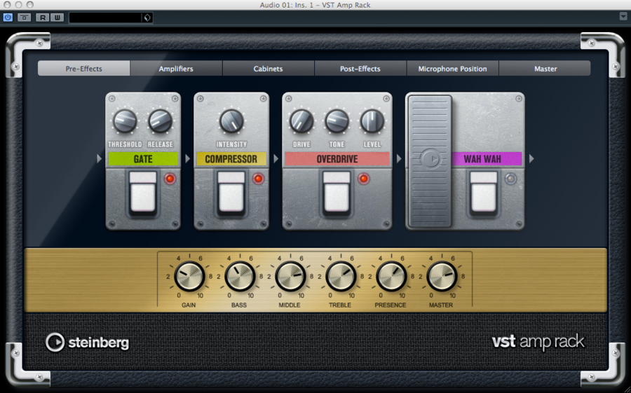 Steinberg's VST Amp Rack plug-in
