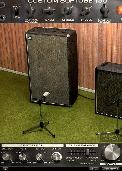 Softube Bass Amp Room plug-in.
