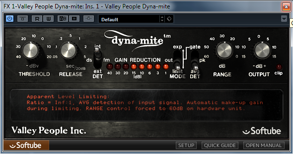 Softube Valley People Dyna-mite settings for the above sample.