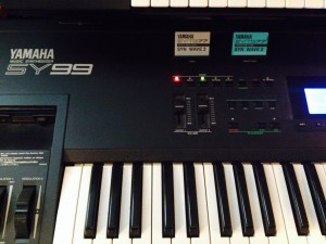 Yamaha SY99 with the SYN WAVE 2 voice and data cards.