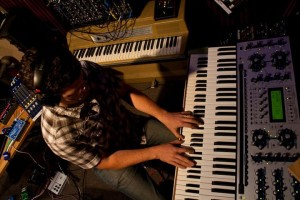 In the studio at Glenn Brown Productions for an Intergalactic Spiral session. Photo by Corrina Van Hamlin.