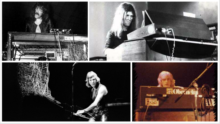 From top L to R - Jon Lord, Dave Stewart, Keith Emerson, and Tony Kaye